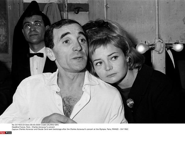 Avec Claude Carol, dans les coulisses de l'Olympia, avril 1962