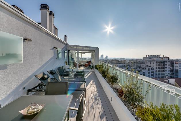 Une terrasse végétalisée