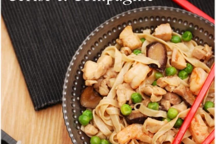 Recette De Saute De Nouilles Chinoises Au Poulet Et Legumes La