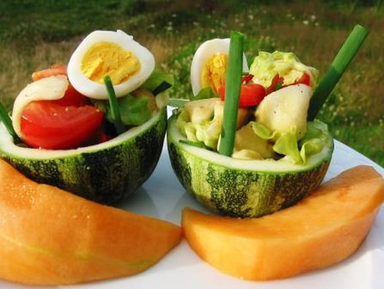 Recette de courgettes rondes farcies fa on salade la - Cuisiner courgettes rondes ...