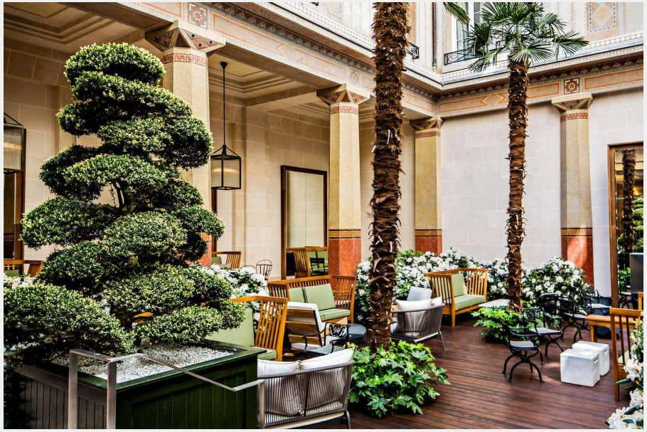 Le patio de l'Hôtel Prince de Galles