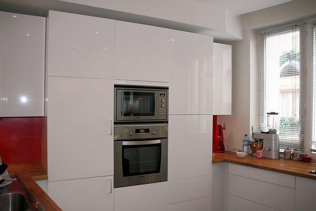 Cuisine IKEA blanc laqué