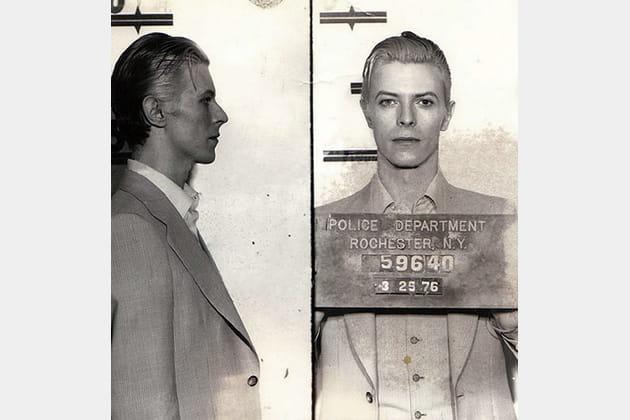 Mugshot à Rochester: Bowie est arrêté en 76 avec Iggy Pop pour possession de marijuana