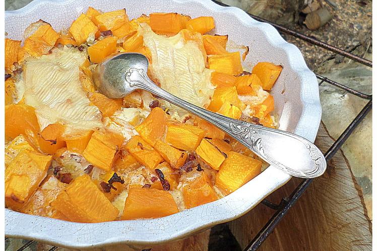 Potiflette ou gratin de potiron comme une tartiflette