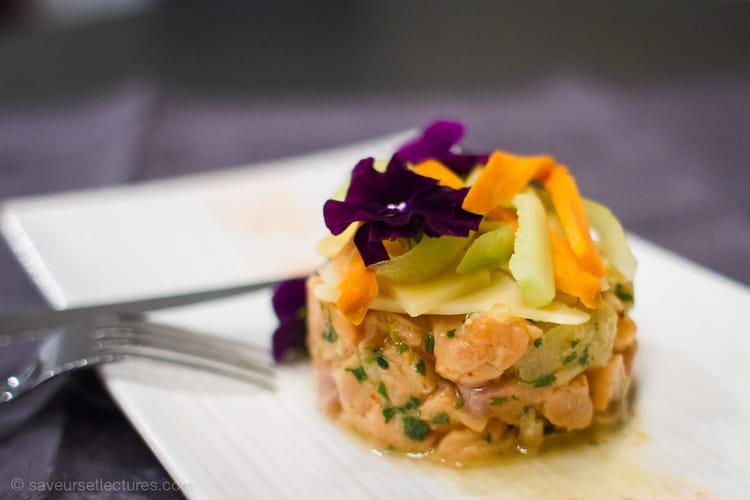 Tartare de saumon à l'Emmentaler Suisse