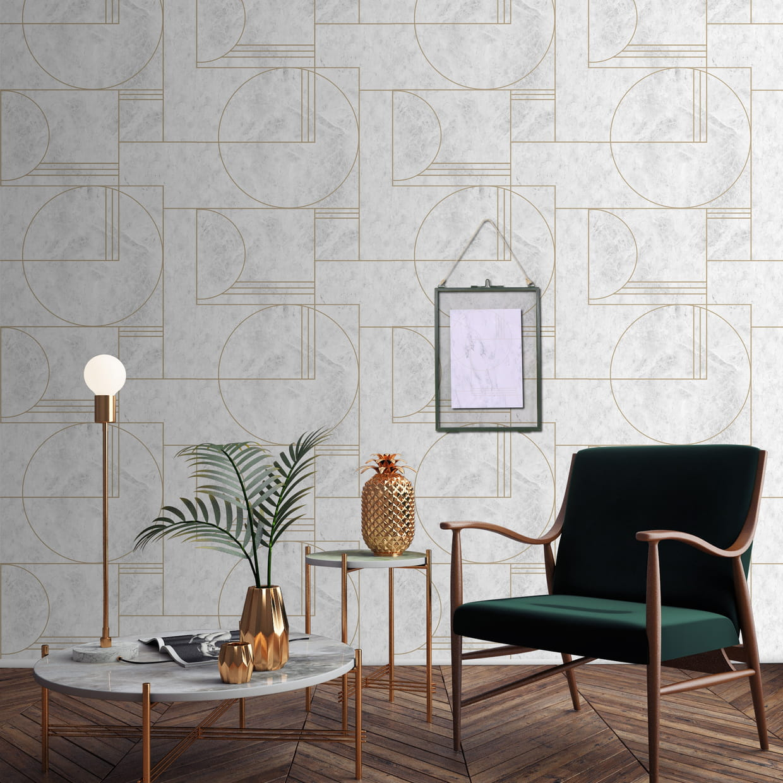papier peint oskar by sophie ferjani chez 4murs. Black Bedroom Furniture Sets. Home Design Ideas