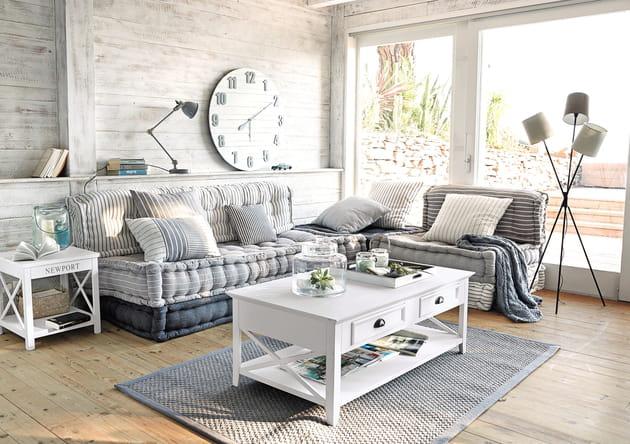 banquette d 39 angle honfleur chez maisons du monde. Black Bedroom Furniture Sets. Home Design Ideas