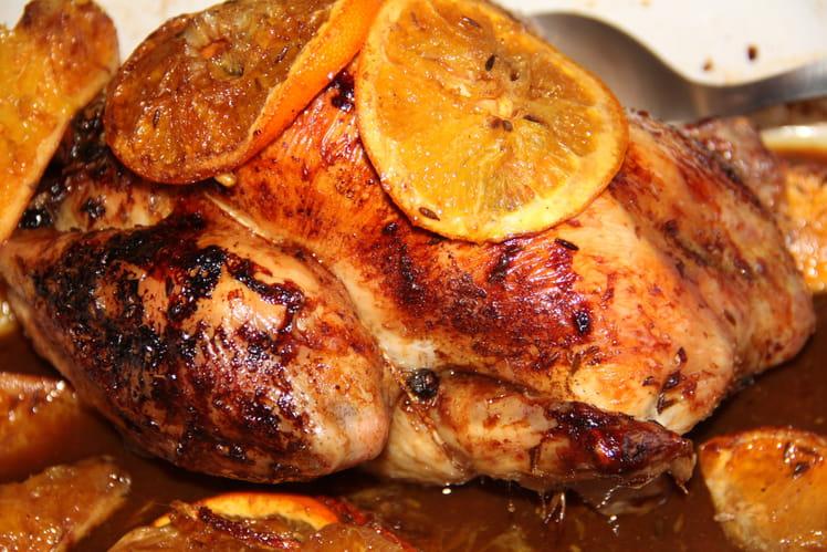 Poulet rôti à l'orange et aux épices