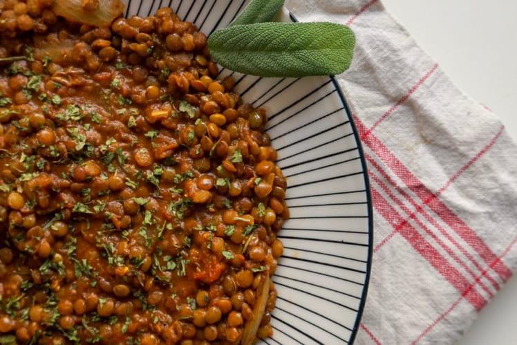 Ragoût de lentilles aux épices à l'Algérienne
