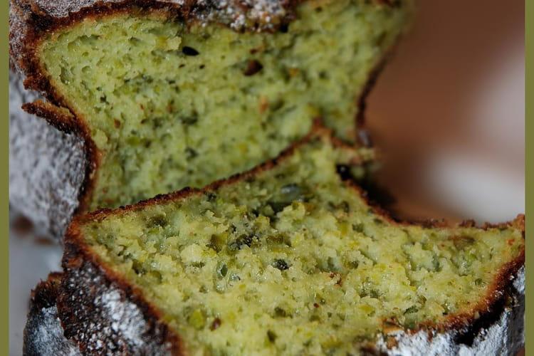Cake à la pistache et au fromage blanc