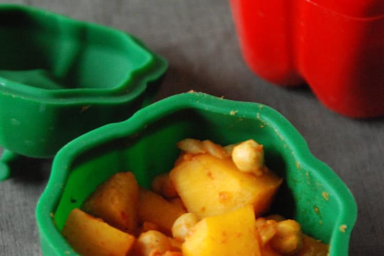 Curry de citrouille et pois chiches