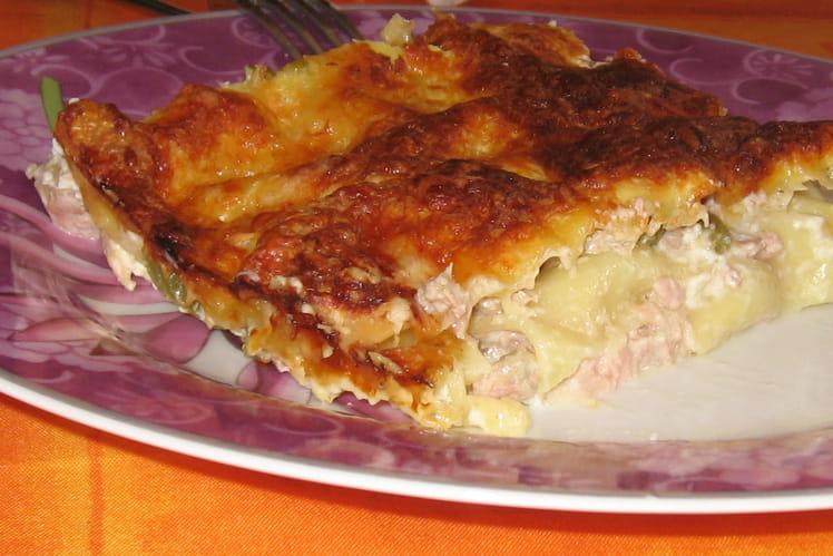 Lasagnes au thon-haricots verts