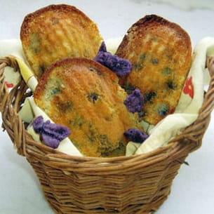 madeleines à la violette