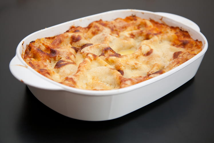 Lasagnes de chou-fleur et saumon