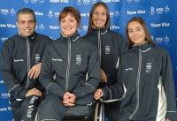 l'équipe team visa : sabrina poignet entourée des navigatrices ingrid petit jean