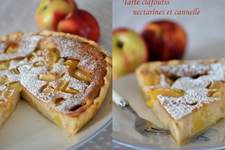 Tarte clafoutis nectarines et cannelle