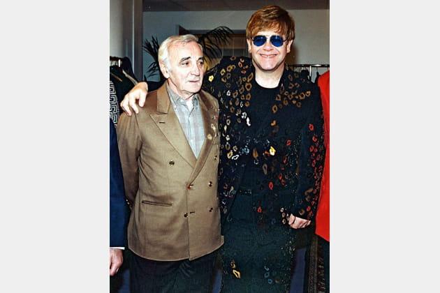 Charles Aznavour et Elton John