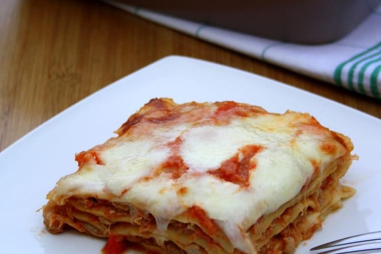 Lasagnes fraîches au thon et aux tomates