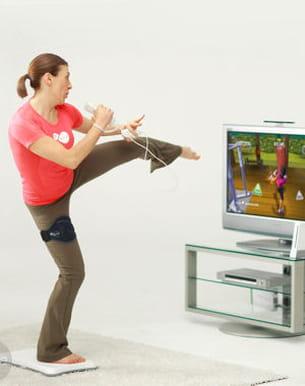 le salon devient salle de sport avec le fitness virtuel