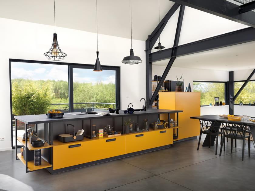Cuisine Loft Mix jaune Madras de Schmidt