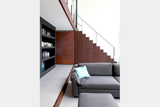 Malin, un escalier avec rangements