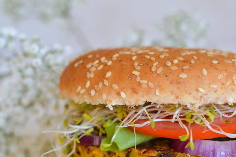Burger végétarien aux Galettes de flocons d'avoine et légumes