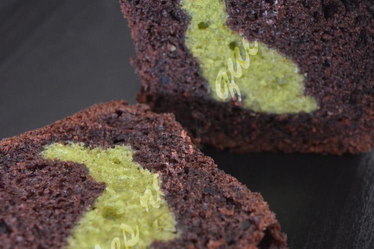 Cake chocolat insert lapin à la pistache