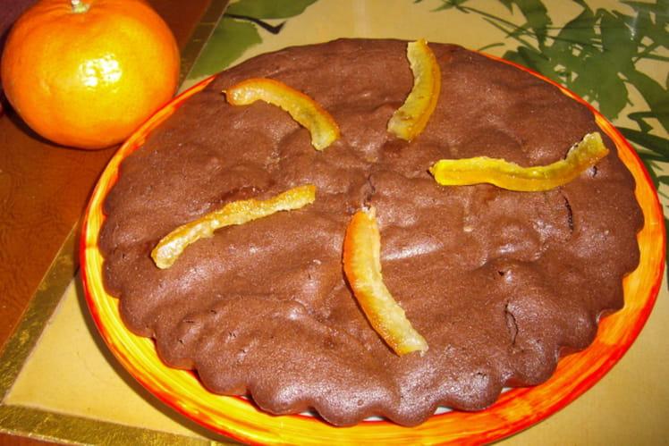 Gâteau tendre chocolat orange