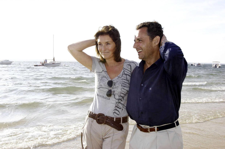 Cecilia Attias Et Nicolas Sarkozy A Pyla Sur Mer 2006
