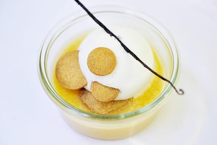 Île flottante mirabelle vanille