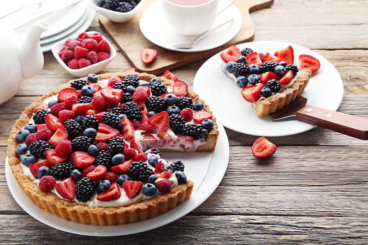 Tarte aux fruits des bois et au mascarpone
