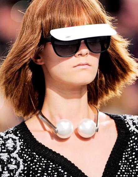 Les lunettes visière de Chanel