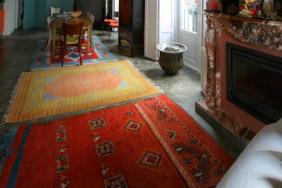 tapis ethniques le style boh me chic en d co journal. Black Bedroom Furniture Sets. Home Design Ideas