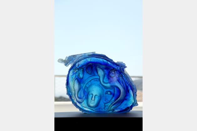 Bleu sculpture