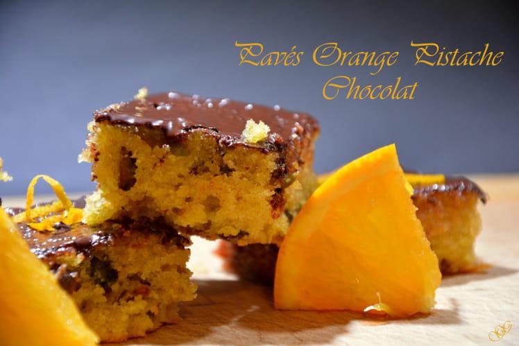 Gâteaux pavés Orange Pistache Chocolat