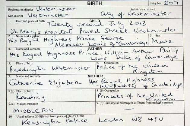 Un acte de naissance banal pour un bébé original