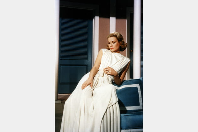 Grace Kelly En Robe Blanche Drapee