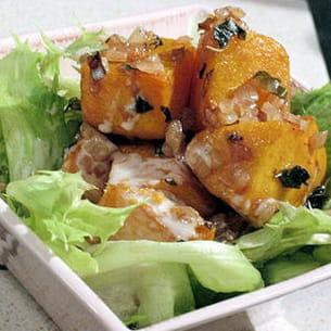 salade de potiron grillé au macis