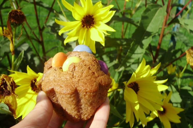 Muffins aux smarties et aux 4 épices