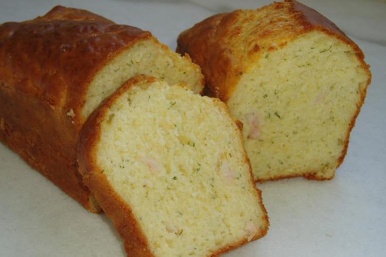 Cake aux crevettes, citron et aneth