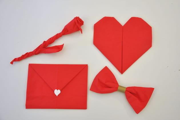 4pliages de serviette faciles pour la Saint-Valentin