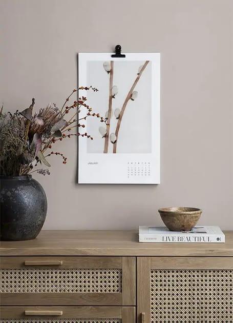 L'objet du désir: le calendrier Botanical art de Desenio