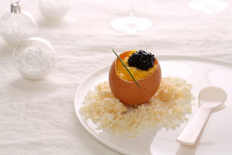 Brouillade d'œufs au caviar
