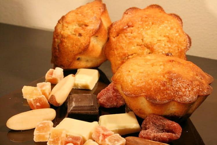 Muffins au quinoa, chocolat et fruits secs
