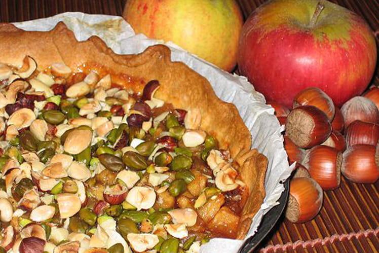 Tarte de pommes aux trois fruits secs