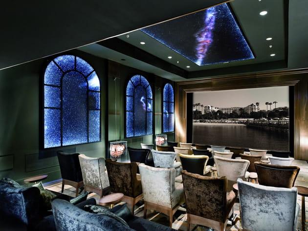 La salle de projection privée du Majestic