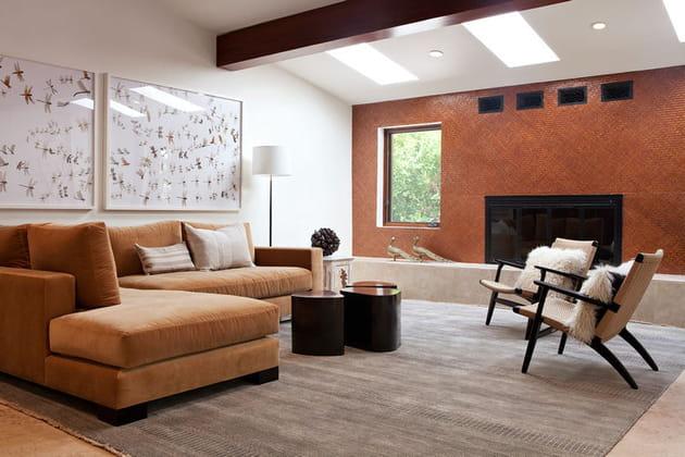 Le salon chaleureux aux couleurs de cuivre