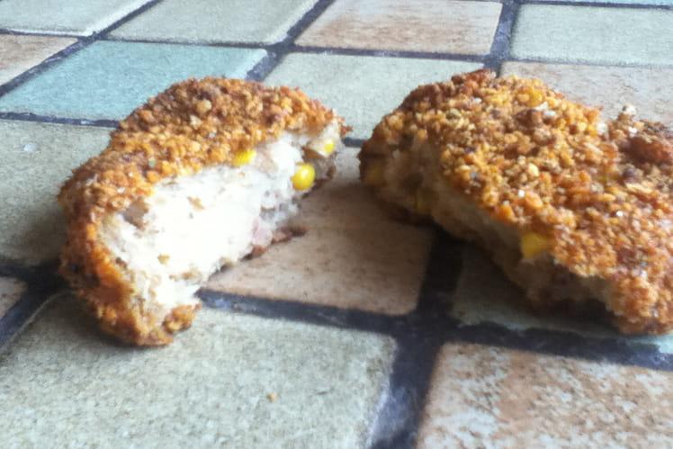 Croquette de thon au fromage et maïs
