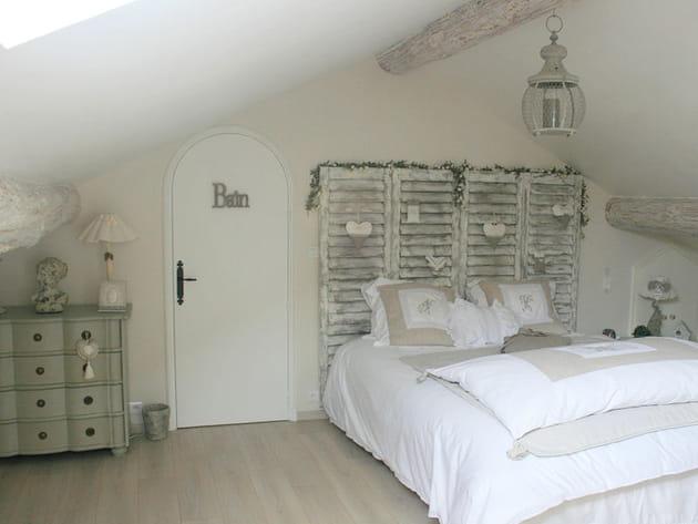 La chambre parentale, romantique