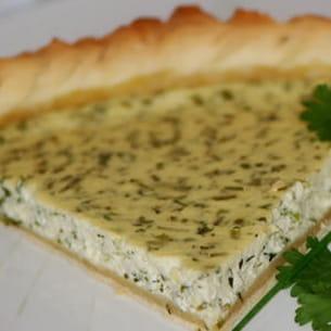 tarte au carré-frais et aux herbes fraîches